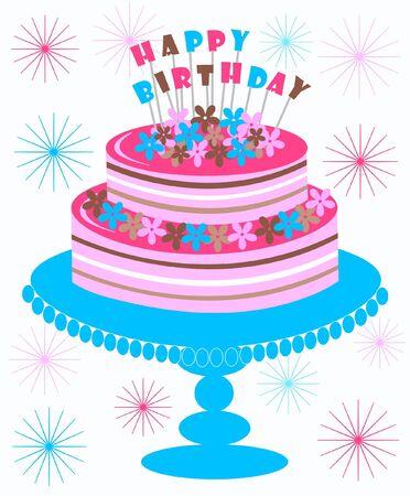 happy birthday Stock Vector - 9084824