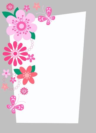 mariposa verde: tarjeta de celebraci�n