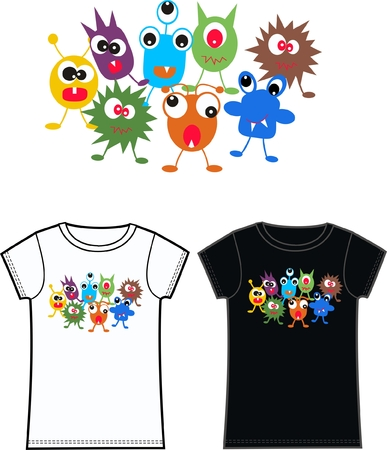 colourful images: monster tshirts