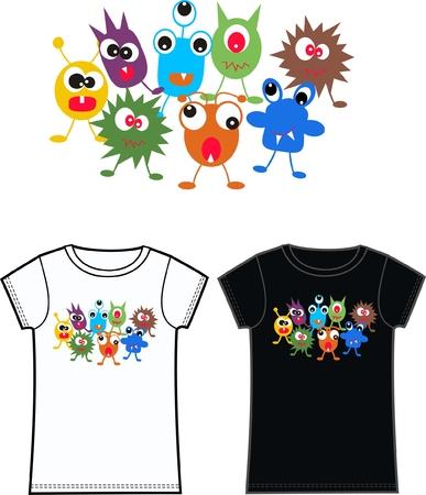 pattern monster: mostro tshirts