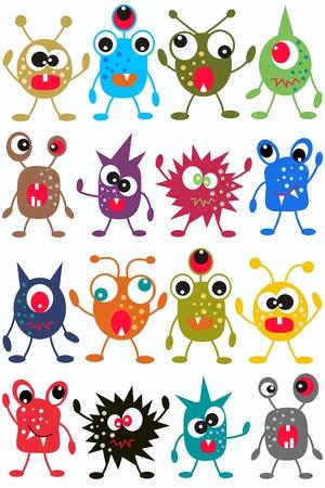 naadloze monster patroon Vector Illustratie