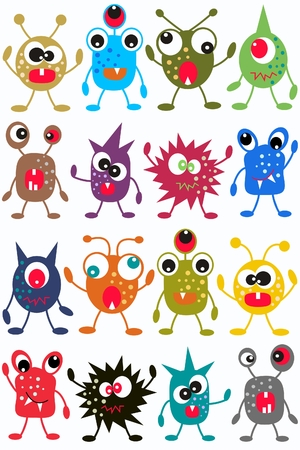 wrapping animal: seamless monster pattern