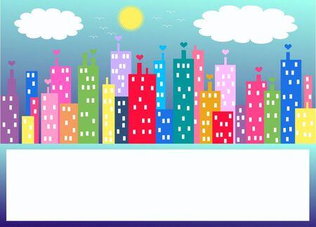 apartment block: city skyline