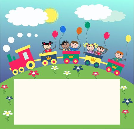 birthday train: invitation card