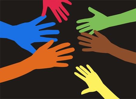 human hands Stock Vector - 9211827