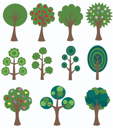 different trees Stock Vector - 9247760