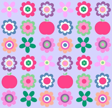 scrapbooking paper: seamless flower pattern Illustration