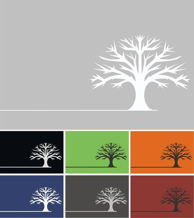 creare: albero di quercia Vettoriali