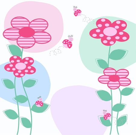 flower card Stock Vector - 9467180