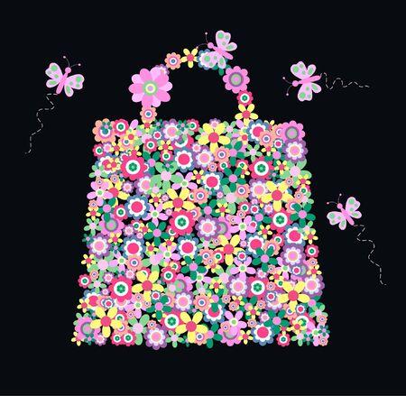 flower bag Stock Vector - 9537909