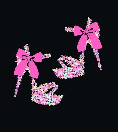 chaussure: chaussures de fleur