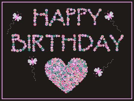 Feliz cumpleaños Ilustración de vector