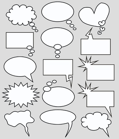 manga style: speech and thought bubbles Illustration