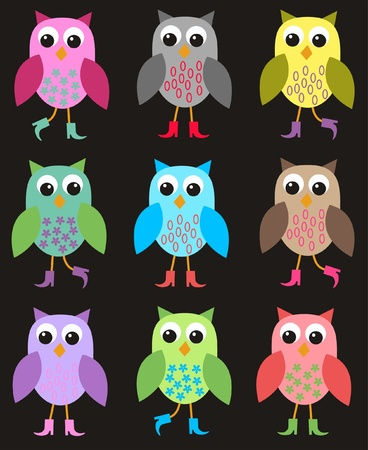 seamless owl pattern Stock Vector - 9682421
