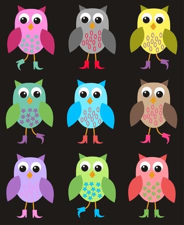 seamless owl pattern Stock Vector - 9682421