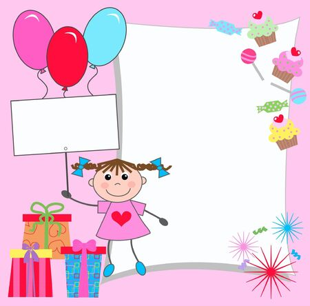 celebration or invitation card Stock Vector - 9682423