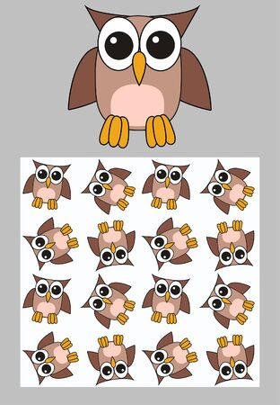 owl patterns Stock Vector - 9719245