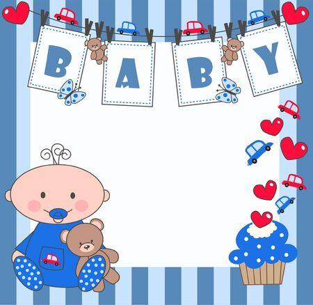 newborn baby boy Stock Vector - 9764676