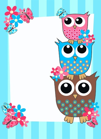owl card Stock Vector - 9764679