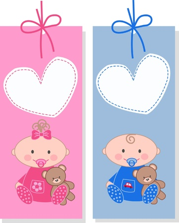 baby tags Stock Vector - 9764707