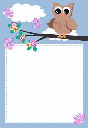 marco cumplea�os: OWL con un mensaje
