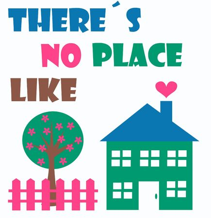 symbol fence: there´s no place like home Illustration