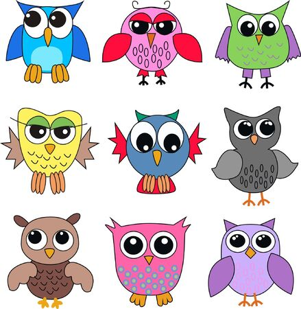 tshirts: different owls