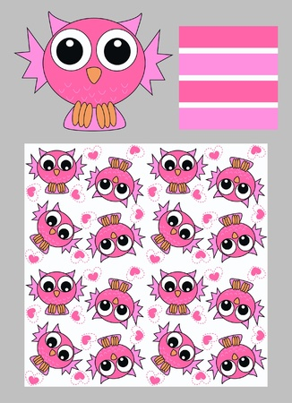 owl pattern Stock Vector - 9829397