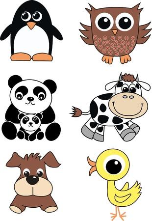 cute animals Stock Vector - 9829392
