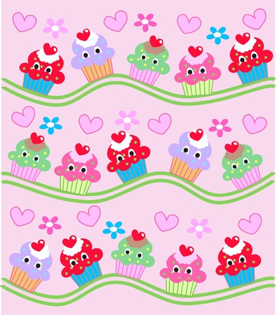 cupcake background Stock Vector - 9933104