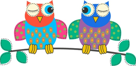 cute images: owls Illustration