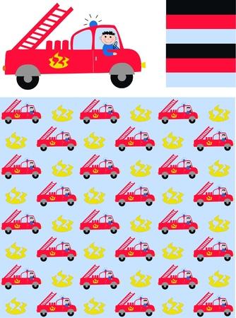 firetruck: three different patterns