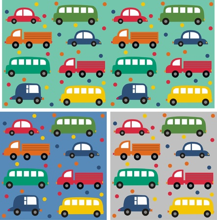 jpeg: seamless car pattern Illustration