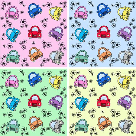 autos: seamless car pattern Illustration