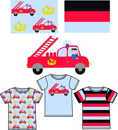 firetruck: pattern for childrens clothes