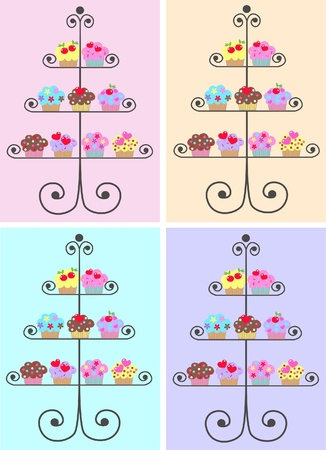 royalty free images: cupcakes Illustration