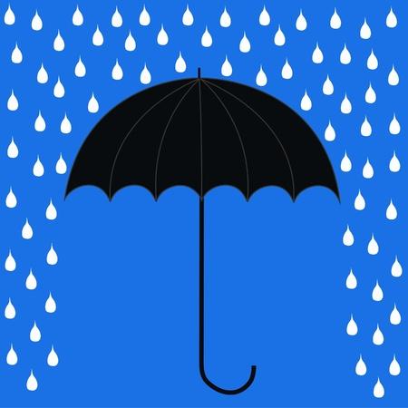 goutte de pluie: parapluie
