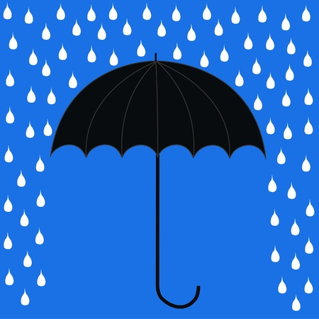 is raining: umbrella Illustration