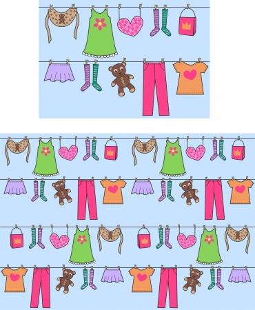 clothes washing: patr�n transparente Vectores