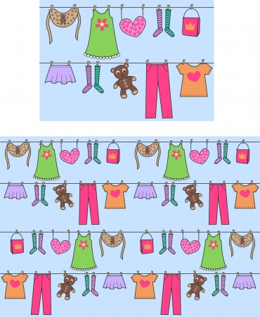 clothes cartoon: seamless pattern