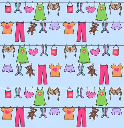 laundry line: patr�n transparente Vectores