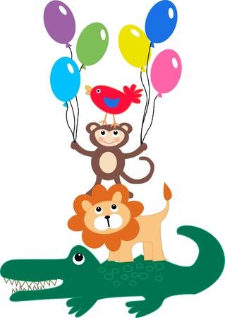 children's: animal print Illustration