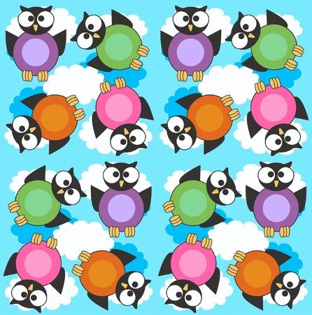 clr: seamless owl pattern
