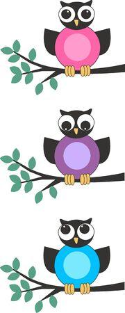 owls Stock Vector - 10396530