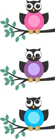 blogg: owls Illustration