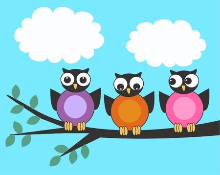 cute owl: owls Illustration