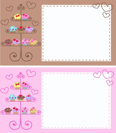 pastry: cupcakes Illustration
