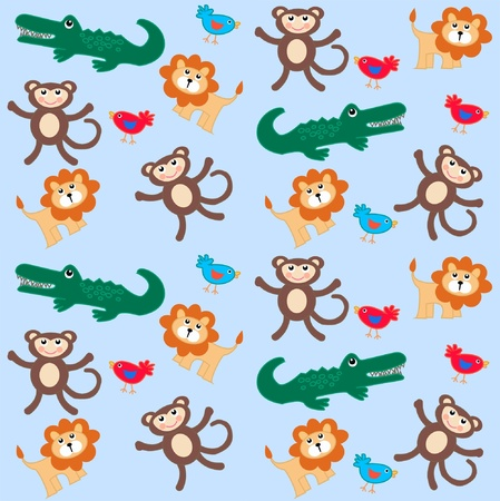 cute cartoons: seamless animal pattern