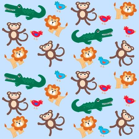 catoon: seamless animal pattern