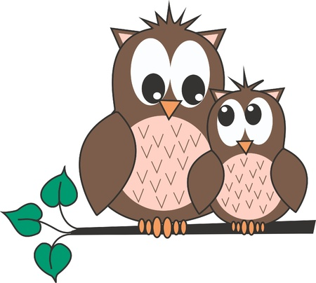 wrapping animal: owls Illustration
